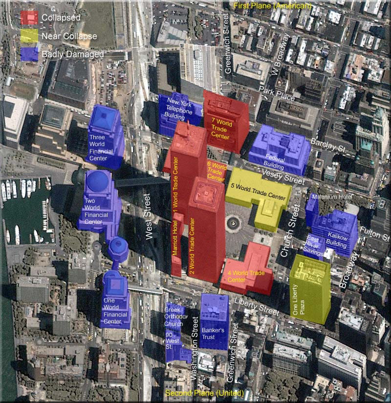 flags of ground zero – Map World Financial Center