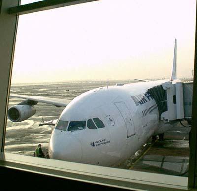 Plane  on Setting  Brooklyn  New York